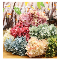 Shininglife Brand real touch flowers artificial Wholesale silk Hydrangea artificial flowers
