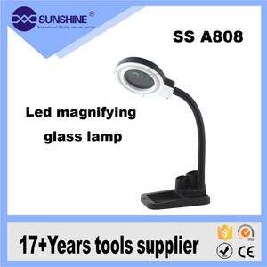 SS A808 Multifunction Portable 5x 8x Table Top Lamp Magnifier
