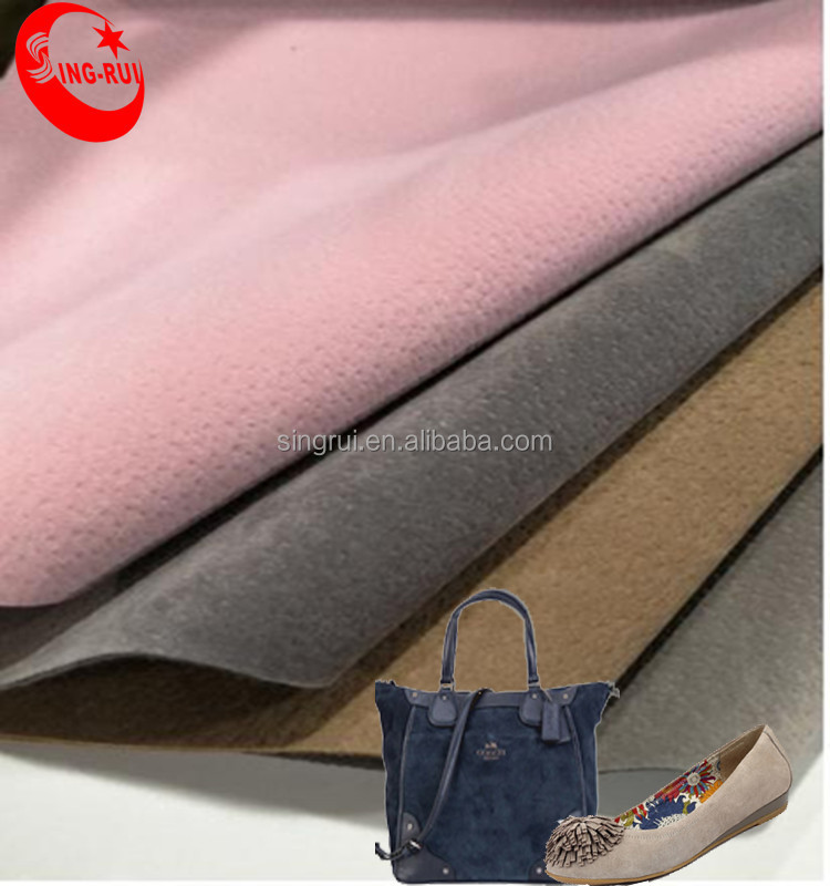 Flock material pig skin emboss pu <strong>leather</strong> for bag, pu synthetic <strong>leather</strong> for shoes