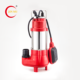 Red 220V electric submersible sewage water pump with float switch