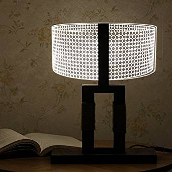 JMH-lamp 3D Creative Desk Lamp Personality Retro Bedside 3D Stereo Vision Lamp Non Adjustable Light
