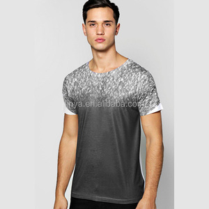 Wholesale fancy high quality printing man t-shirt two tone modern mens t shirts