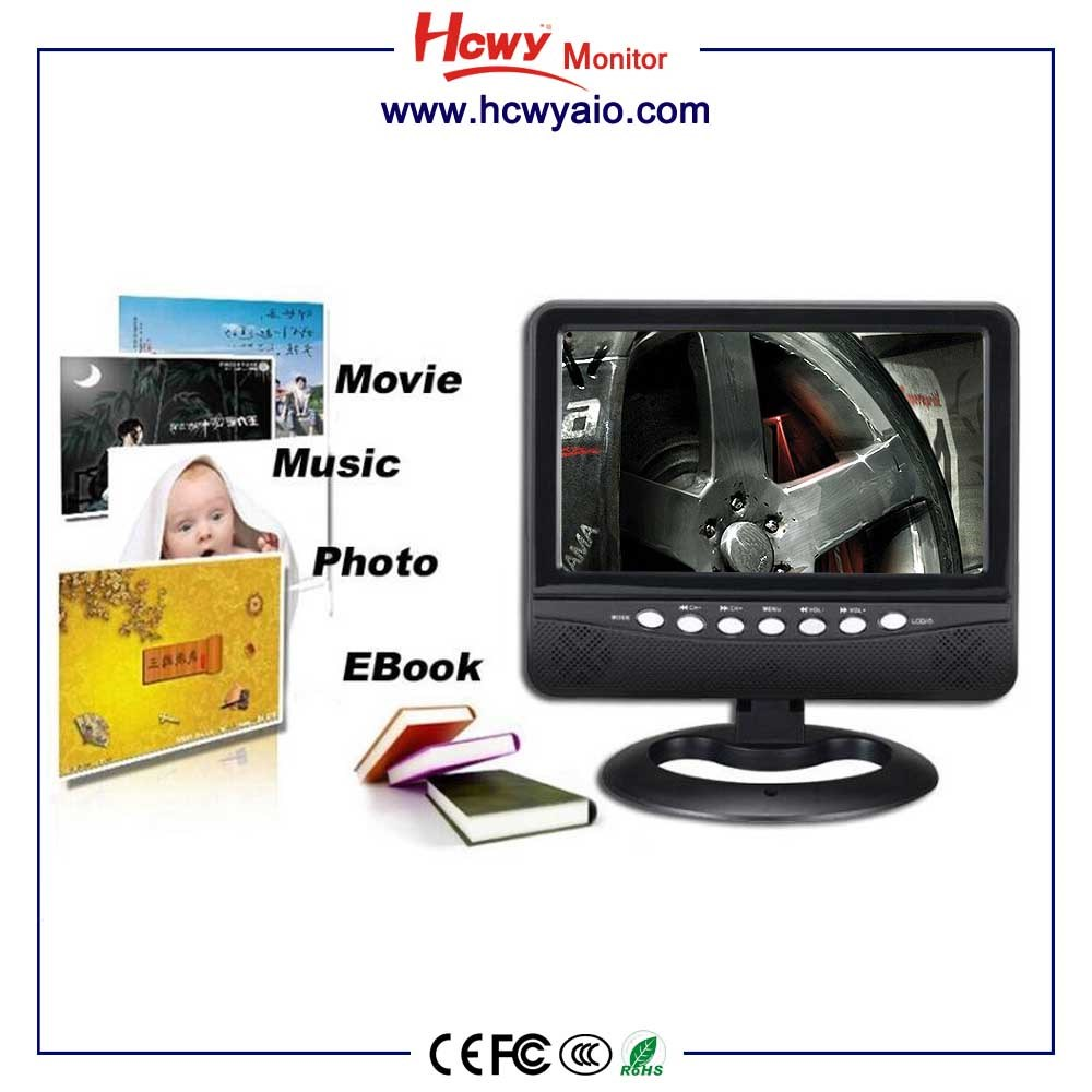 Best Price 7inch Rechargeable 720P Portable TV With FM Radio Function & 3D Function