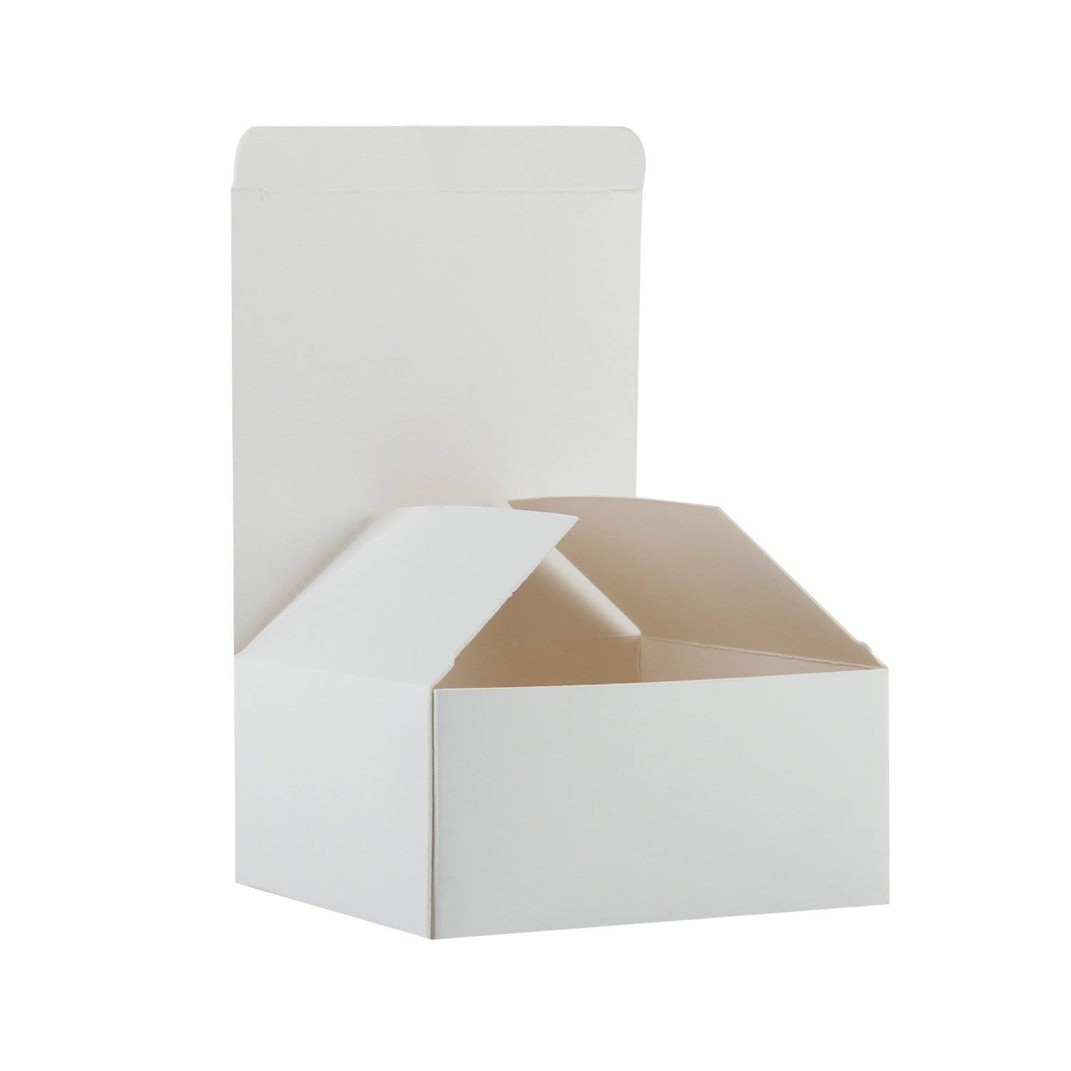 6x6x4 10 Pack White Cardboard Tuck Top Gift Boxes with Lids