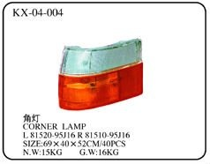 Corner lamp L 81520-95J16 R 81510-95J16 for TOYOTA HIACE series