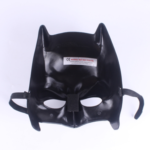 Party Cheap Plastic Mask Movies Character Black Batman Mask Full Super Hero Mask For Kids