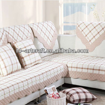 Cotton Light Orange Cell Indian Sofa Covers SC018p