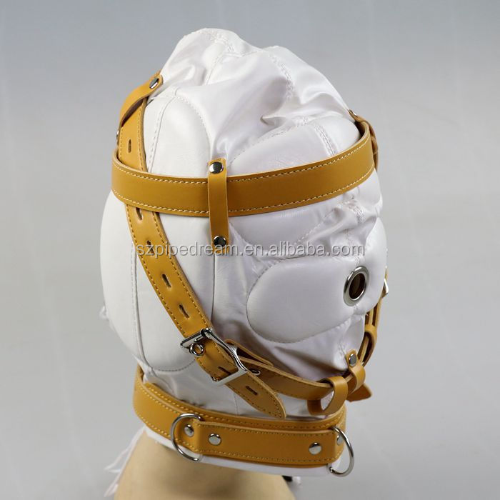 leather bondage blindfold slave bdsm mask hood restraints helmet cosplay erotic tools