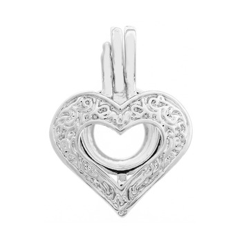 Silver plated pearl cage pendant love heart modern pearl pendant silver plated pearl cage pendant love heart modern pearl pendant designs aloadofball Choice Image
