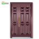 Modern Design Metal 6 Panel One and Half Steel Door, Steel Mon and Son Door, Residential Entry DoorS