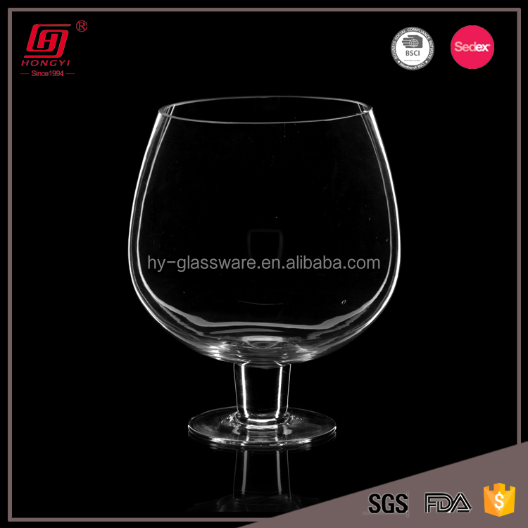 Hot Sale New Design Lead Free Giant Wine Glass Shaped Round Fish
