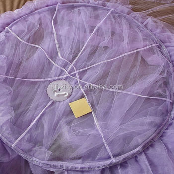 Purple princess mosquito net bed canopy insecticide treated mosquito net in round