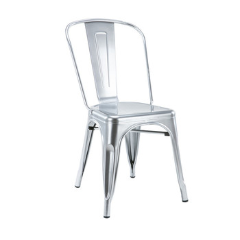 Modern Appearance Industrial Stackable Shiny Metal Chair