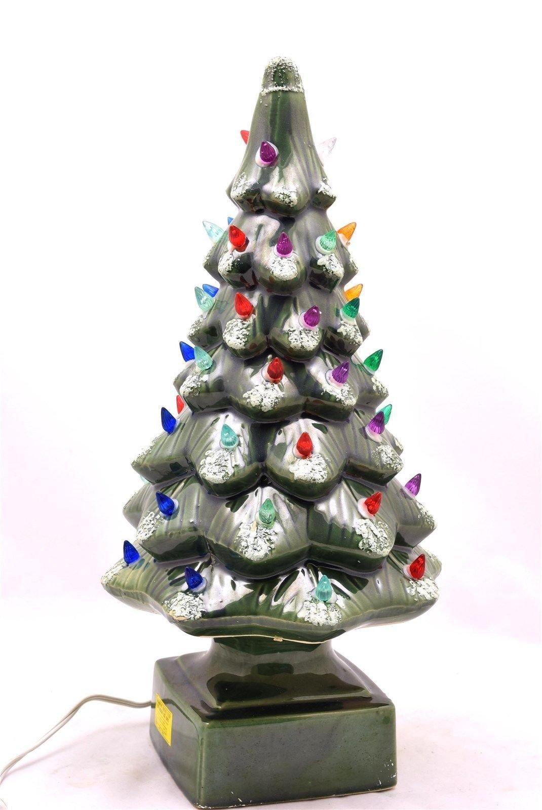 get quotations vintage 17 14 light up ceramic glimmer christmas tree 51 dazzling lights - Ceramic Light Up Christmas Tree