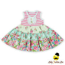 Frock Design For Baby Girl' Dresses Summer Sleeveless Floral Baby Cotton Frock Cutting Dress Wholesale