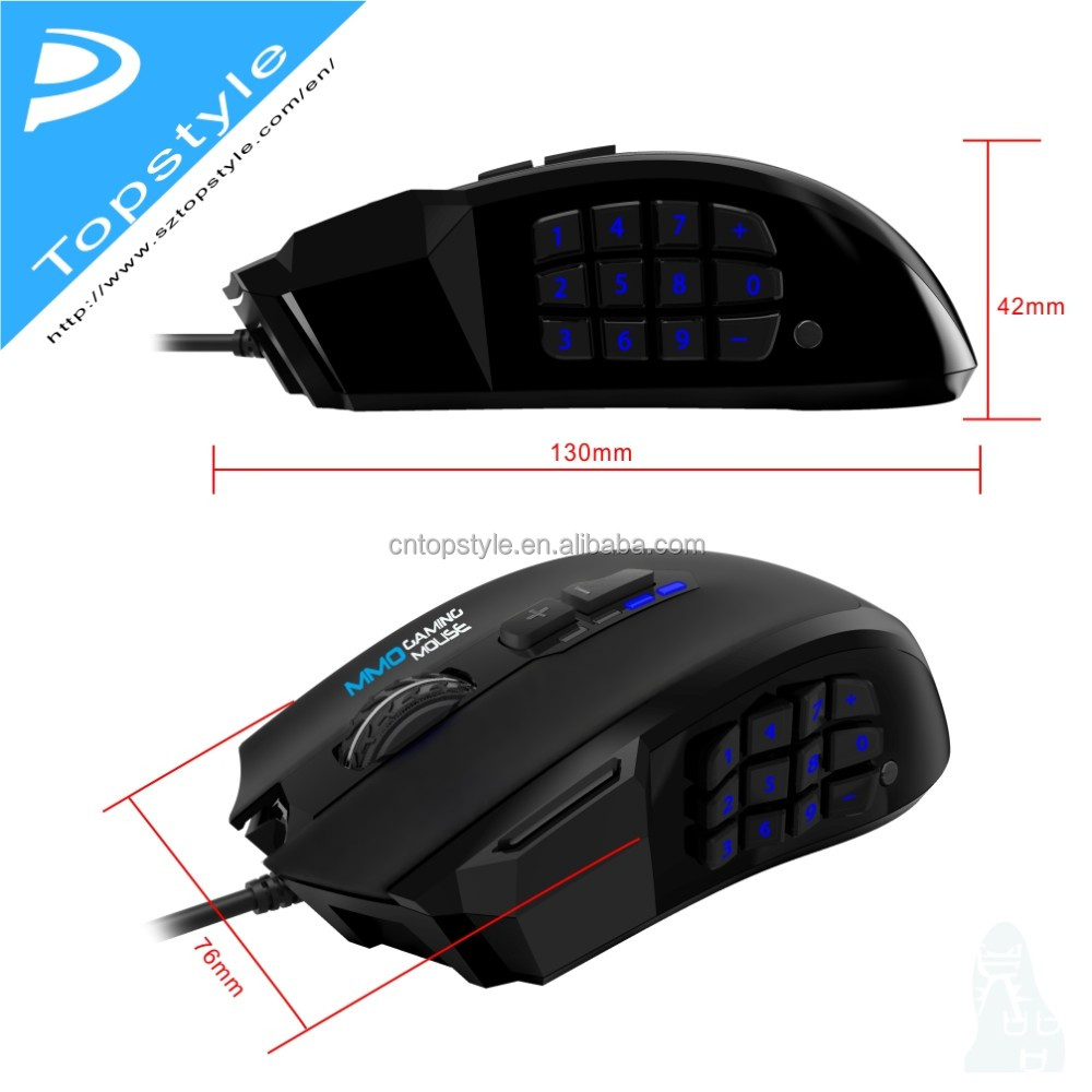 Topystyle Macro Gaming mouse 2017 New arrival !20 Marco Keys MMO gaming mouse for gamer.gaming keyboard,gaming pc,gaming mouse