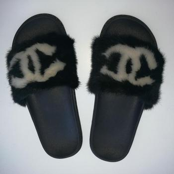 Newest Fashion Ladies Soft Fur slide Slippers /sandals