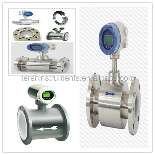 Milk 316L Electromagnetic water flowmeter for food industry