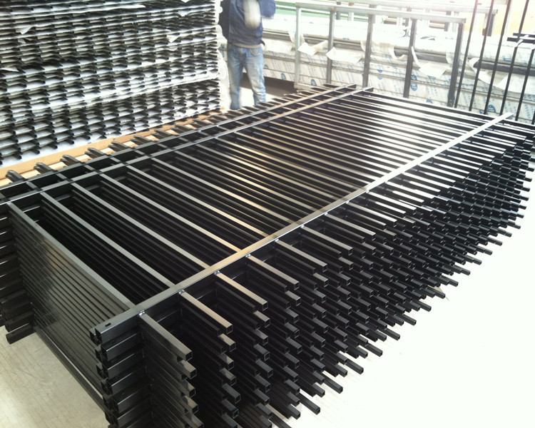 Aluminum picket fence indoor iron stairs fence prefab for Indoor fence design