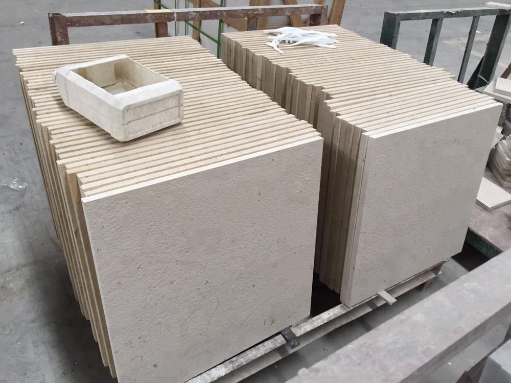 tumbled white limestone