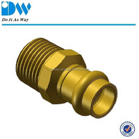 Brass Male Press Fitting/Coupling