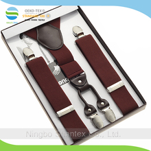 Fashion design Accessories Solid Colors Elastic Braces Suspenders for Man
