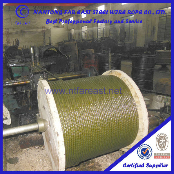 GB/DIN quality carbon steel 60# /65#/70# good lubrication with grease 6x19+FC Ungal cables steel wire rope