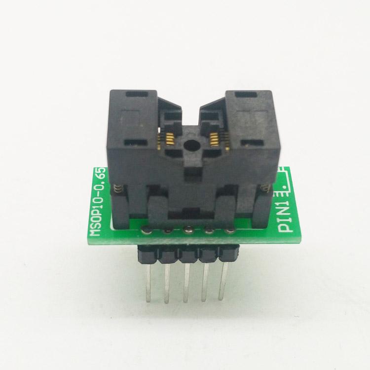 MSOP10 To DIP10 MCU Programmer Test Socket Pitch 0.5mm IC Body Width 3mm Programming Socket Adapter