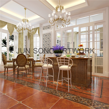 Js 58003 China Wholesale Floor Tiles Brown Ceramoc Tiles Dining Room