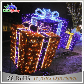 outdoor led christmas decoration gift box for park - Outdoor Christmas Decorations Gift Boxes
