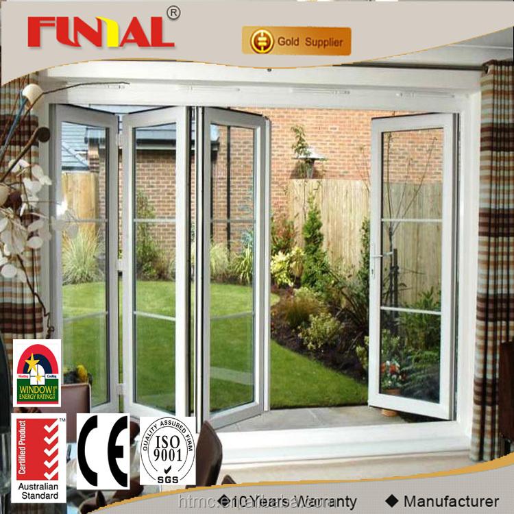 Comercial exterior de acorde n puertas de vidrio plegables for Puerta de acordeon castorama