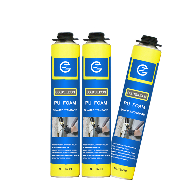 Fireproof Foam Spray Gap Filler Polyurethane Spray Rigid PU Foam for Construction