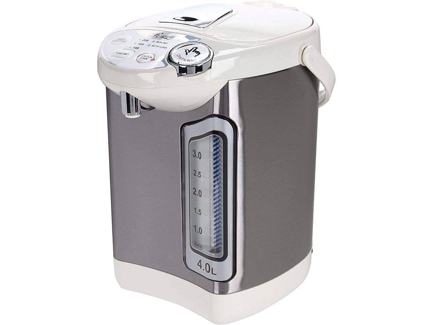 Water Hot Boiler Electric Pot Warmer 4 Liter Steel Dispenser Stainless, Home Kitchen And Coffee