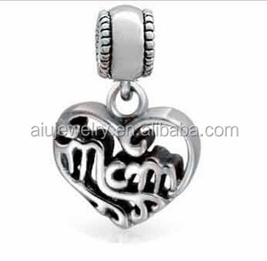 925 Sterling silver jewelry bead charm mom