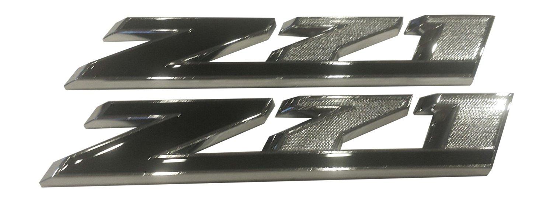 TWO Z71 OFF ROAD Red Diamond Grille Fender Emblem Badge 3M Stick On