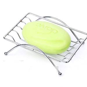 Soap Dish Tray , Bathroom & Kitchen Accessories Sink Rectangular Sponge Holder Case Rack , Stainless Steel Metrodecor Drying Clean Draining Phone Box Saver , For Shower , Bar , Counter Top , Bathtub