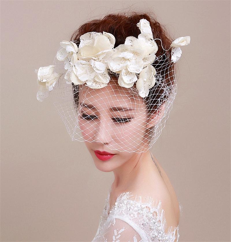 European Style White Flower Fascinator Hat  b8b0663864f