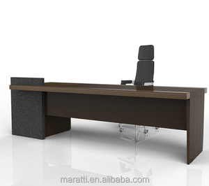 Modern office Furniture High quality HOT sale executive desk Office desk with side desk and Back cabinet