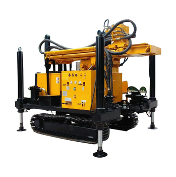Strong power good performance crawler type water well drilling machine
