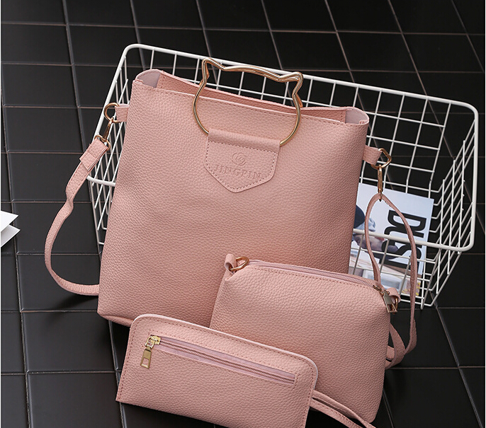 Fashion cat ears leisure cute all-match hadbang crossbody bag for women