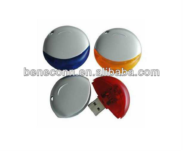 Round CD shape usb memory drive