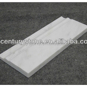 Oriental White Marble Polished Skirting Baseboard Moulding