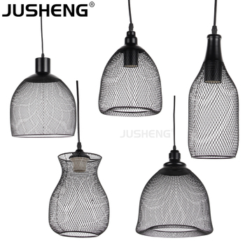 2017 New Wholesale Indoor Vintage Industrial Wire Pendant Light Cage  Lighting With Bulb