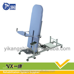 Vertical tilting table / physiotherapy standing bed