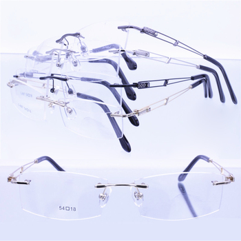 Wholesale 867 Designer Rimless Trendy High Classic Rectangle Nickel ...