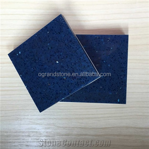Crystal Quartz, Artificial Crystal Blue Quartz Stone for Countertop