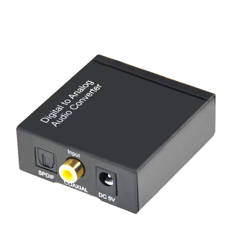 Digital-Analog Audio Converter 3,5 MM Optical Coaxial Toslink Adapter Digital CINCH L/R mit usb-kabel