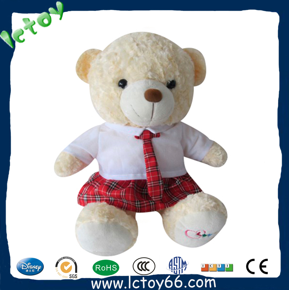 custom soft toy teddy bear with t-shirt customer design accepted