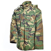 Outdoor hunting field battle waterproof woodland camo army jacket