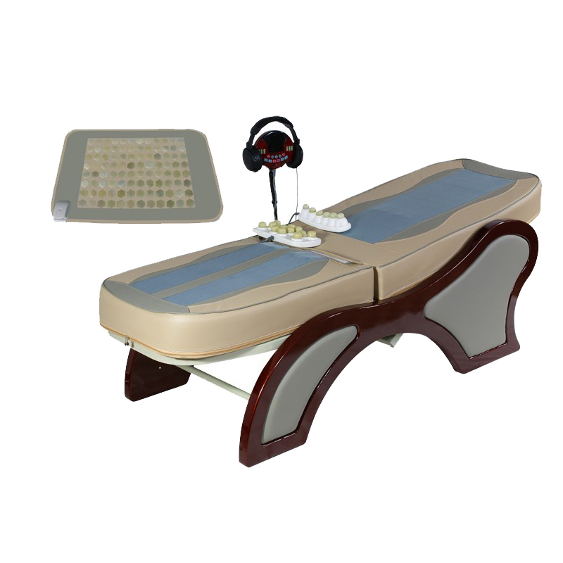 Wooden pink beauty theramax jade massage bed for beauty salon